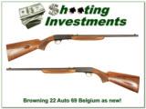 Browning 22 Auto 69 Belgium near new! - 1 of 4