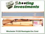 Winchester Model 70 Vintage 222 Remington NIB! - 1 of 4