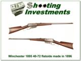Winchester 1895 Flat Side Flatside made in 1896 40-72! - 1 of 4