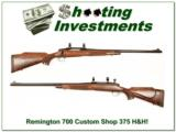 Remington 700 Custom Shop 375 H&H Mag XX Wood! - 1 of 4