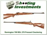 Remington 700 BDL Pressed Checkering 270 Winchester - 1 of 4