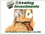 Colt Woodsman 3rd Series Sport 4.5in in box MINT! - 1 of 4