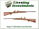 Ruger 77 Red Pad in 220 Swift as NEW! - 1 of 4