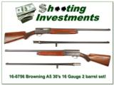 Browning A5 1934 pre-War 16 Gauge 2 barrel set! - 1 of 4