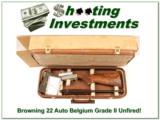Browning 22 Auto Grade II 65 Belgium unfired in case! - 1 of 4