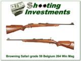 Browning Safari Grade 59 Belgium 264 Win Mag! - 1 of 4