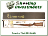 Browning T-bolt 22 LR in box with papers