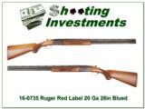 Ruger Red Label 20 Gauge 28in barrels Blued receiver