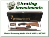 Browning Model 42 410 NIB Box XX WOOD!
