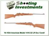 Anschutz Model 1416 22 LR Exc Cond!