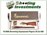 Browning Superposed 20 Gauge Pigeon Grade NIB!- 1 of 4