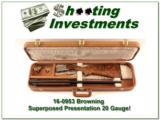 Browning Superposed Presentation 20 gauge ANIC