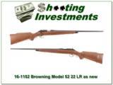 Browning Model 52 22 LR Rimfire as new!