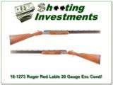 Ruger Red Label 20 Gauge 28in Exc Cond!