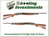 Browning Model 42 High Grade 5 410 Gauge as new