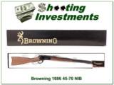 Browning 1886 45-70 NIB and perfect!