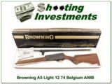 Browning A5 Light 12 74 Belgium ANIB!