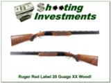 Ruger Red Label 20 Gauge XX Wood mint 26in skeet