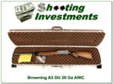 Browning A5 Ducks Unlimited 20 Gauge XX Wood NEW
