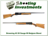 Browning A5 Light 12 69 Belgium Blond Vent Rib!