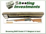 Browning BAR Grade II 71 Belgium 30-06 in box!