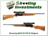 Browning BAR Grade II 270 Win w Leupold!