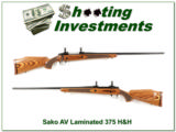 Sako AV 375 H&H Laminated stock Exc Cond!