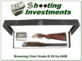 Browning Citori Grade III 28 Ga NIB!