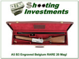 Browning A-5 B3 Grade 3 Ultra Rare 20 Mag Belgium NIB