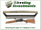 Browning A5 Light 12 71 Belgium in box beautiful wood!