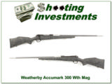 Weatherby Accumark 300 Wthy Mag Exc Cond