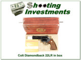 Colt Diamondback 22 LR Blued in box looks new!