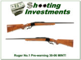Ruger No. 1 Pre-Warning Red Pad 30-06 MINT!