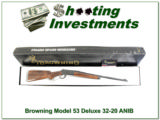 Browning Model 53 32-20 NIB with XX Wood!