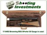 Browning BSS Sporter 20 Gauge as new in case