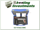 CZ 75 9mm Tactical Sport two-tone ANIC 9mm