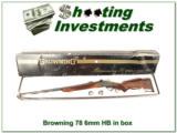 Browning Model 78 6mm Heavy Barrel in box!