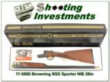 Browning BSS Sporter 20 Ga unfired in box!