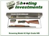Browning Model 42 410 High Grade NIB Box!