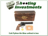 Colt Python 1976 6in Blue looks unfired in box!