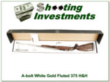 Browning A-bolt rare White Gold 375 H&H Fluted