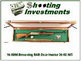 Browning BAR Deer Hunter 30-06 commemorative in display case!