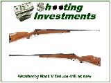 Weatherby Mark V Deluxe 416 as new!