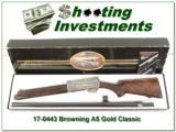 Browning A5 GOLD CLASSIC Belgium NIB XXX Wood!
