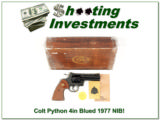 Colt Python 1977 4in Blue unfired in box!