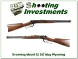 Browning Model 92 357 Magnum Montana Centennial unfired!