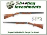 Ruger Red Label 20 Gauge Silver 28in choke tubes