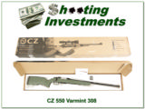 CZ 550 Varmint 308 tactical Boyds stock Exc Cond in box