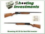 Browning A5 Light 20 26in Vent Rib invector looks new!