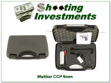 Walter CCP 9mm new, unfired with case, papers and 2 magazines